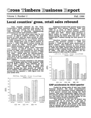 Primary view of Cross Timbers Business Report, Volume 1, Number 1, Fall 1986