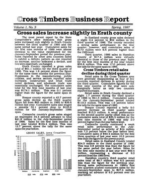 Primary view of object titled 'Cross Timbers Business Report, Volume 1, Number 3, Spring 1987'.