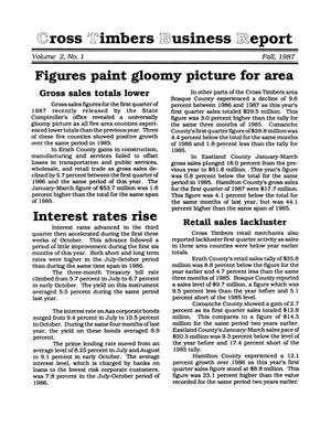 Primary view of object titled 'Cross Timbers Business Report, Volume 2, Number 1, Fall 1987'.