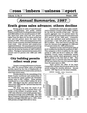 Primary view of object titled 'Cross Timbers Business Report, Volume 2, Number 2, Winter 1988'.
