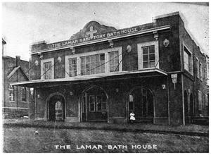Primary view of object titled 'The Lamar Bath House'.