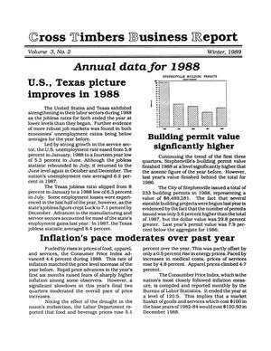 Primary view of object titled 'Cross Timbers Business Report, Volume 3, Number 1, Winter 1988'.