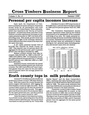 Primary view of object titled 'Cross Timbers Business Report, Volume 3, Number 4, Summer 1989'.