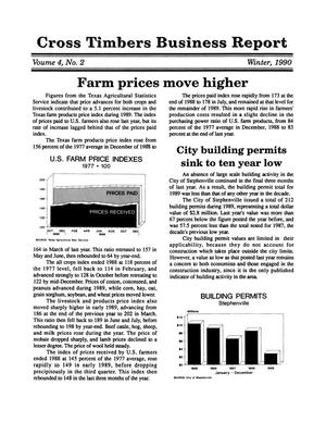 Primary view of object titled 'Cross Timbers Business Report, Volume 4, Number 2, Winter 1990'.