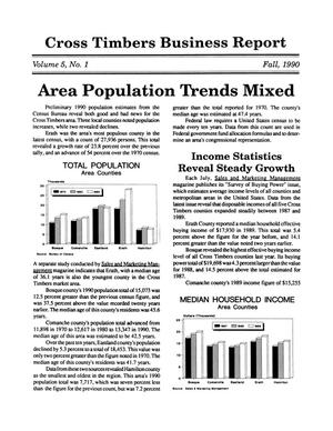 Primary view of object titled 'Cross Timbers Business Report, Volume 5, Number 1, Fall 1990'.