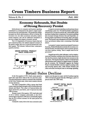 Primary view of object titled 'Cross Timbers Business Report, Volume 6, Number 1, Fall 1991'.