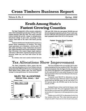 Primary view of object titled 'Cross Timbers Business Report, Volume 6, Number 3, Spring 1992'.