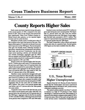 Primary view of object titled 'Cross Timbers Business Report, Volume 7, Number 2, Winter 1993'.