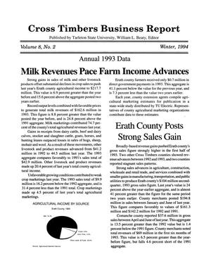 Primary view of object titled 'Cross Timbers Business Report, Volume 8, Number 2, Winter 1994'.
