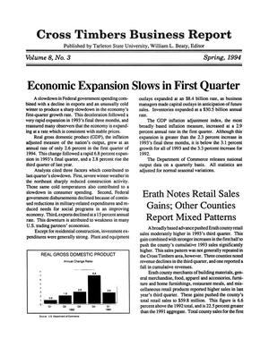 Primary view of object titled 'Cross Timbers Business Report, Volume 8, Number 3, Spring 1994'.