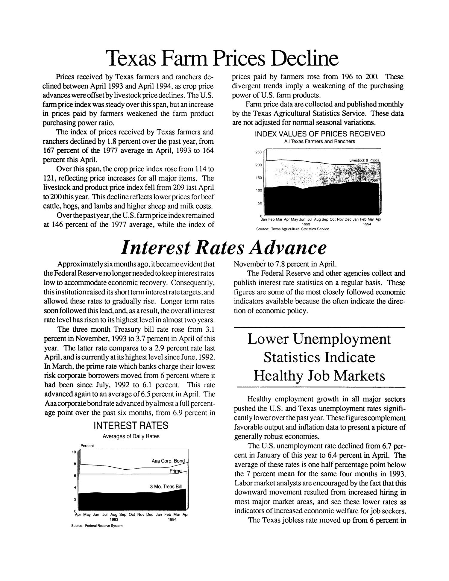 Cross Timbers Business Report, Volume 8, Number 3, Spring 1994                                                                                                      3
