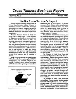 Primary view of object titled 'Cross Timbers Business Report, Volume 9, Number 2, Winter 1995'.