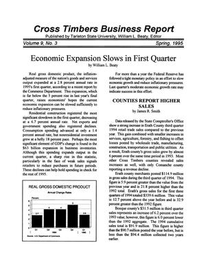 Primary view of object titled 'Cross Timbers Business Report, Volume 9, Number 3, Spring 1995'.
