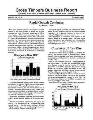 Cross Timbers Business Report, Volume 13, Number 4, Summer 2000