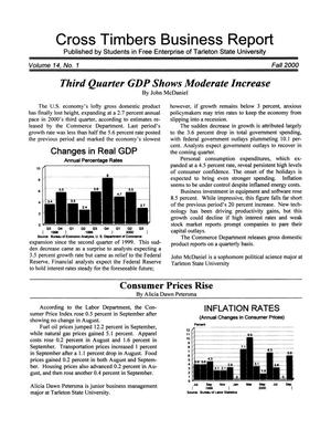Cross Timbers Business Report, Volume 14, Number 1, Fall 2000