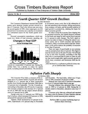 Primary view of object titled 'Cross Timbers Business Report, Volume 14, Number 2, Winter 2001'.