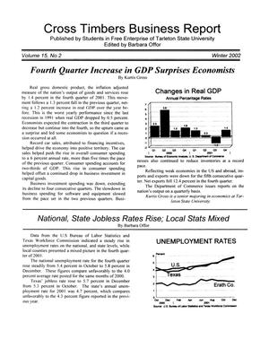 Primary view of object titled 'Cross Timbers Business Report, Volume 15, Number 2, Winter 2002'.