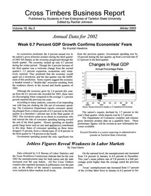 Primary view of object titled 'Cross Timbers Business Report, Volume 16, Number 2, Winter 2003'.