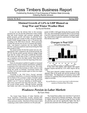 Primary view of object titled 'Cross Timbers Business Report, Volume 16, Number 3, Spring 2003'.