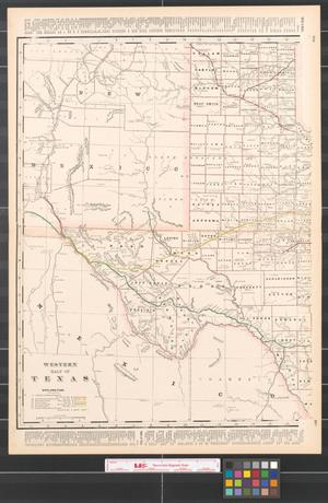 Primary view of object titled 'Western half of Texas.'.