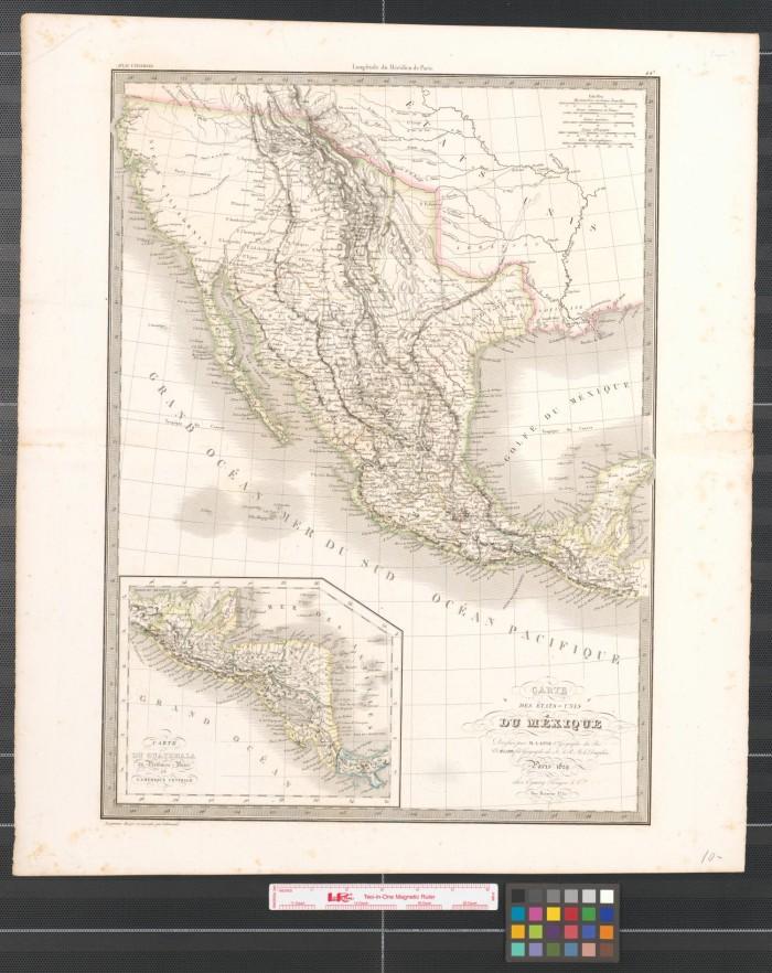 Carte Des états Unis Du Méxique The Portal To Texas History