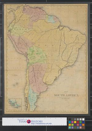 Primary view of object titled 'Map of South America to accompany the History of South America.'.