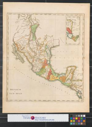 Primary view of object titled 'Mexico or New Spain.'.