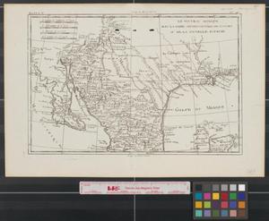 Primary view of Le Nouveau Mexique avec la Partie Septentrionale de l'Ancien, ou de la Nouvelle Espagne.