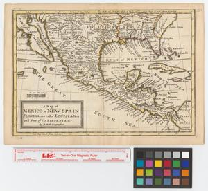 Primary view of A map of Mexico or New Spain, Florida now called Louisiana and part of California &c.
