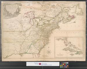 Primary view of Carte générale des colonies Angloises : dans l'Amérique Septentrionale.