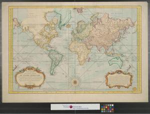 Primary view of Carte réduite des parties connues du globe terrestre : dressée au dépost des cartes plans et journaux de la marine pour le service des vaisseaux français.