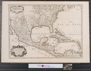 Primary view of Carte du Mexique et de la Floride des terres angloises et des Isles Antilles : du cours et des environs de la riviere de Mississipi.