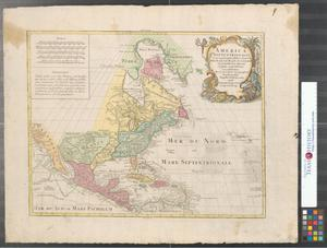 Primary view of America Septentrionalis, concinnata juxta observationes Dñn Academiae Regalis Scientiarum et nonnullorum aliorum, et juxta annotationes recentissimas.