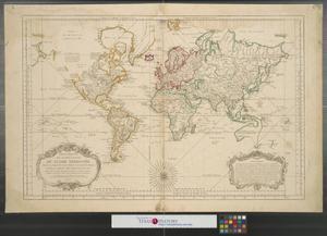 Primary view of Carte reduite des parties connues du globe terrestre : dressée au dépost des Cartes Plans et Journaux de la Marine.