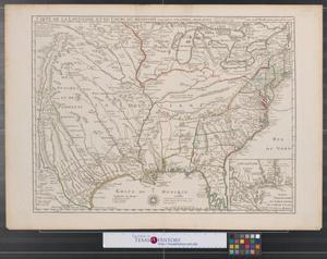 Primary view of Carte de la Louisiane et du cours du Mississipi avec les colonies anglaises.