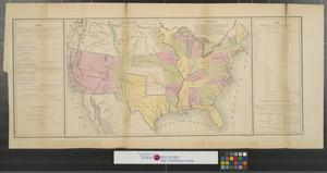 Primary view of object titled '[Map of the United States]'.