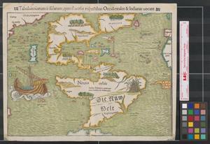 Primary view of Tabula nouarum insularum, quas diuersis respectibus Occidentales & Indianas uocant.