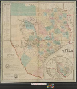 Primary view of object titled 'J. De Cordova's map of the state of Texas : compiled from the records of the General Land Office of the State.'.