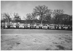 Primary view of object titled '[The Mineral Wells Police Force and City/County Ambulance Service]'.