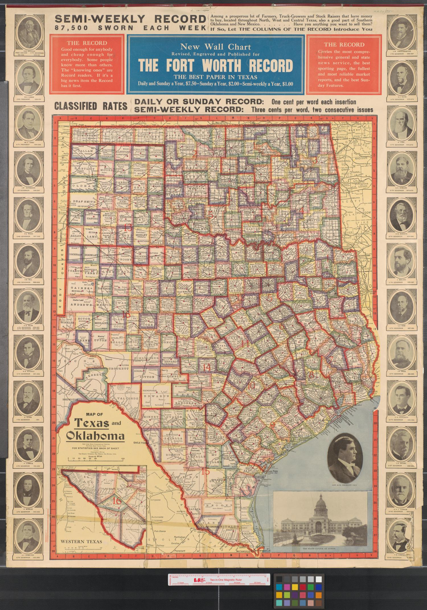 Map Of North Texas And Oklahoma.Map Of Texas And Oklahoma The Portal To Texas History