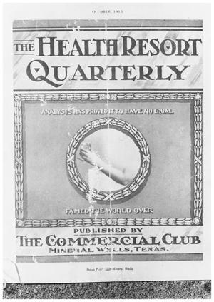 Primary view of object titled 'The Health Resort Quarterly, 1 of 4, Cover'.