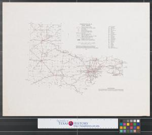 Primary view of object titled 'Transportation map of Texas (north).'.