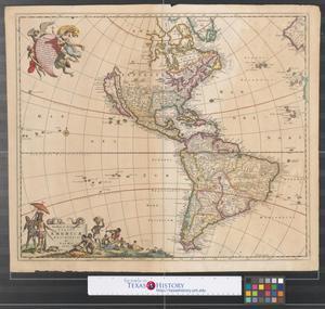 Primary view of Novissima et accuratissima totius Americae descriptio.