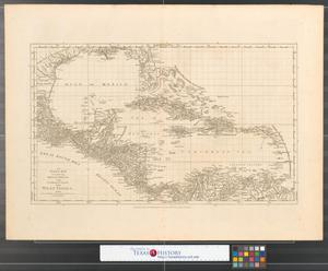 Primary view of An index map to the following sixteen sheets being a compleat chart of the West Indies : with letters in the margin to direct the placing the different sheets in their proper places.