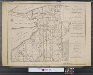 Primary view of Map of Morris's Purchase or West Geneseo in the State of New York : exhibiting part of the Lakes Erie and Ontario, the Straights of Niagara, Chautauque Lake, and all the principal waters, the boundary lines of the several tracts of land purchased by the Holland Land Company, William and John Willink, and others, boundary lines of townships, boundary lines of New York and Indian reservations, laid down from actual survey, also a sketch of part of Upper Canada.