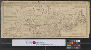 Primary view of object titled 'A map of the British and French settlements in North America [Sheet 1].'.