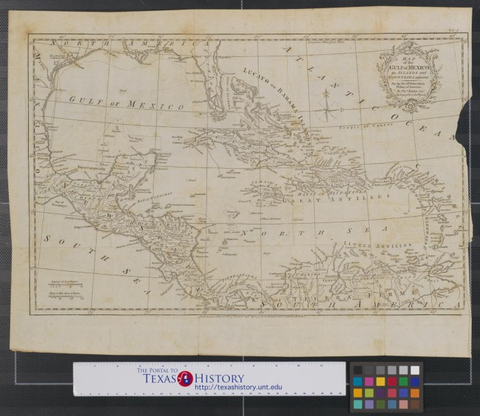 map of the gulf of mexico the islands and countries adjacent for the rev dr robertsons history of america