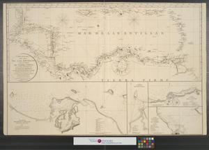 Primary view of Carta Esferica del Mar de las Antillas y de las Costas de Tierra Firme, desde las Bocas del Rio Orinoco hasta el Golfo de Honduras.