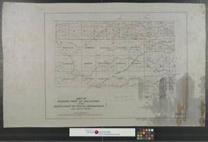 Primary view of object titled 'Map of western part of Oklahoma and north part of Texas, Panhandle.'.