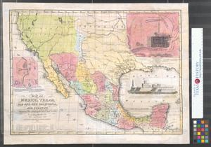 Map Of Mexico Texas Old And New California And Yucatan Showing - Map of texas cities and towns